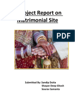 A Project Report on Matrimonial Site