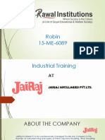 ppt on 4 months industrial training (quality).pptx