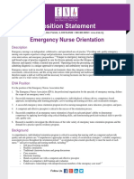 Emergency Nurse Orientation