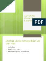 ADVOKASI (Dalam Promosi Kesehatan)
