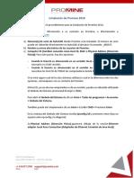 Instalación de Promine 2018- POL