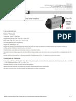 Atuadores Pneumáticos Simples Efeito SRN Em Alumínio (New Version) Características