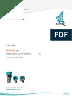 E-MiniWave Ultrasonic Level Series Data Sheet v3