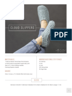 Cloud Slippers Knitting Pattern