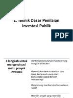 teknik evaluasi investasi publik