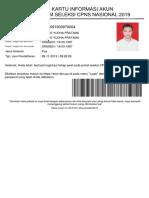 kartu pendaftaran CPNS