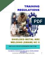 Training Regulation SMAW NC II