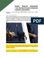 Corte Suprema_Nuevos elementos Probatorios son necesarios para disponer el cese de la prisión preventiva..docx