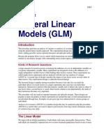 General Linear Models (GLM)