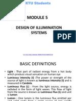 EE405 M5-Electrical System Design-ktustudents.in