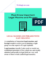 118 Important Legal Maxims for Law Exams