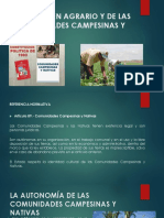 Del Régimen Agrario y de Las Comunidades Campesinas Denisa