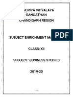 Subject Enrichment Material Class XII BUSINESS STUDIES
