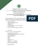 Guia Para Presentación de Deberes Para La Catedrá Ensayo de Materiales i
