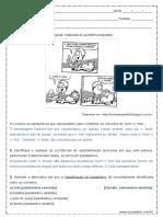 Atividade de Portugues Substantivos 2º Ano Do Ensino Medio Respostas