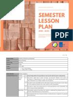 Semester Lesson Plan