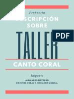 Taller de canto coral Alejandro Navarro