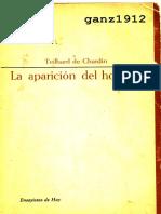 Teilhard de Chardin. La aparición del hombre
