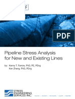 Pipeline Stress Analysis for New and Existing Lines