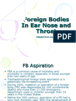 Foreign Bodies in Ear Nose and Throat Edited