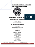 The Study of Women Welfare Services Through Ngos in Sargodha Full Thesis
