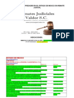 Catalogo de Inmuebles en el Estado de Mexico en Remate Judicial