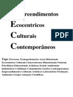 Empreendimentos Ecocentricos Culturais Contemporâneos
