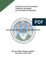 Valoracion Económica Lago Atitlan