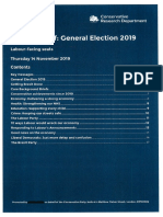 Political Brief for Tory candidates - Labour facing