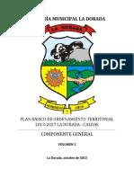 Componente General PBOT La Dorada 2013-2027