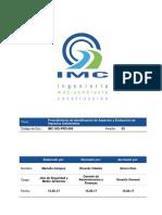 MDCH-SST-PRO-004 Procedimiento de Identificación de Aspectos y Evaluación de Impactos AmbientalesV03