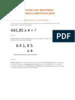 Multiplicaciones Con Decimales