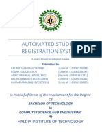 Automated Student Registration System New