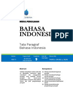 MODUL 9 TATA PARAGRAF BAHASA  INDONESIA.docx