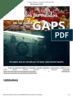 Alimentos Permitidos en La Dieta GAPS – Mis Recetas GAPS