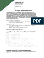 Brigham & Women's Hospital - Elbow & Hand Rehabilitation PT Protocols