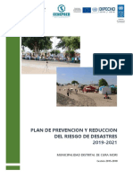 Plan de prevención y reducción de riesgos de desastres 2021, Municipalidad Distrital de Cura Mori