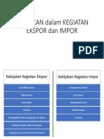 Kebijakan Dalam Kegiatan Ekspor Dan Impor