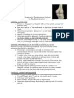 Knee Post-Operative Rehabilitation Protocols