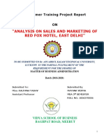 Analysis on Sales and Marketing at Rwd Fox Hotel