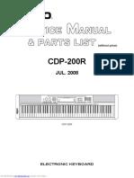 Casio CDP200R ServiceManual&PartsList Jul2008