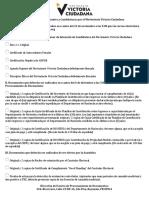 Requisitos para aspirantes a candidatos por el Movimiento de Victoria Ciudadana