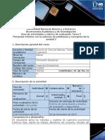 Presentar Informe con la solución de problemas y conceptos de la Unidad 3