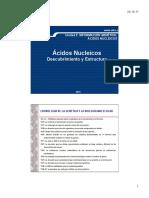 Unidad 2- Información Genética-Acidos Nucleicos- Descubrimiento y Estructura
