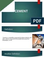 Cement Slideshare
