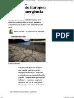 Parlamento Europeu Declara Emergência Climática