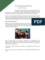 teacher educator role