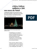 Esta Sexta-feira, Lisboa Acende 2 Milhões e 350 Mil Luzes de Natal