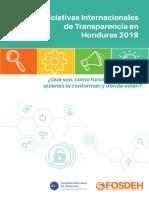Iniciativas Internacionales Transparencia Hn