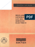 Reglamento General de La Ley Del Servicio Eléctrico